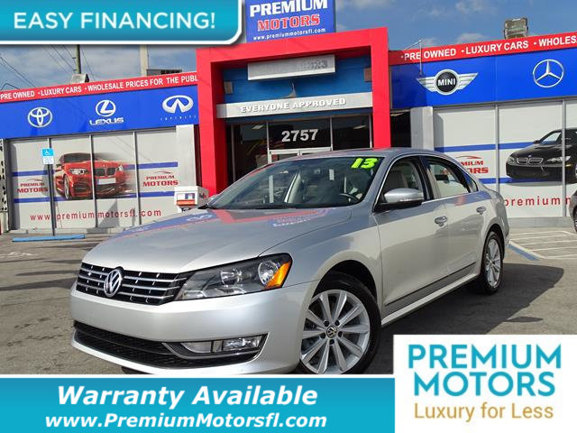 2013 VOLKSWAGEN PASSAT 4DR SEDAN 25L AUTOMATIC SEL PZE LOADED CERTIFIED