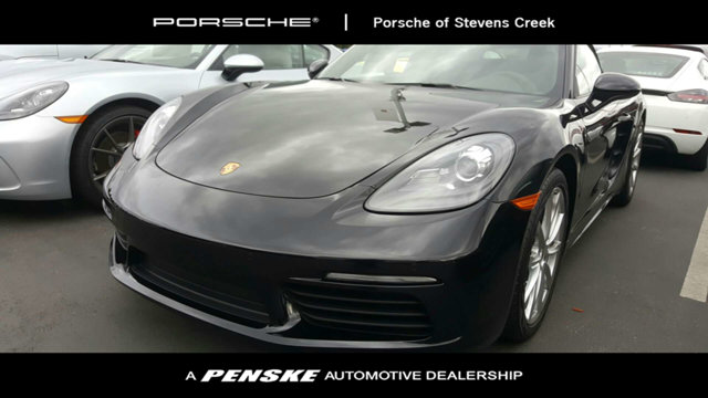 2018 PORSCHE 718 BOXSTER ROADSTER LOADED WITH VALUE Comes equipped with Black Partial Leather S