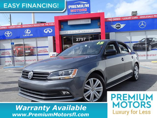 2015 VOLKSWAGEN JETTA SEDAN  LOADED CERTIFIED WE SAVE YOU THOUSANDS Dont Pay Retail Get low m