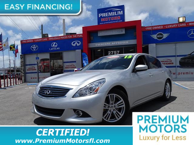 2013 INFINITI G37 SEDAN 4DR JOURNEY RWD LOADED CERTIFIED WE SAVE YOU THOUSANDS Fully servi