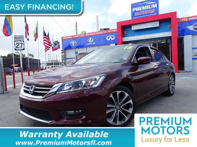 2015 HONDA ACCORD SEDAN 4DR I4 CVT SPORT LOADED CERTIFIED WE SAVE YOU THOUSANDS Fully serviced