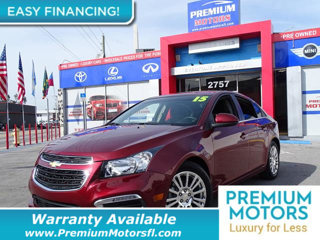 2015 CHEVROLET CRUZE 4DR SEDAN AUTOMATIC ECO LOADED CERTIFIED WE SAVE YOU THOUSANDS Dont Pay R