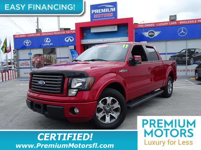 2011 FORD F-150 2WD SUPERCREW 145 FX2 LOADED CERTIFIED WE SAVE YOU THOUSANDS Fully serviced j