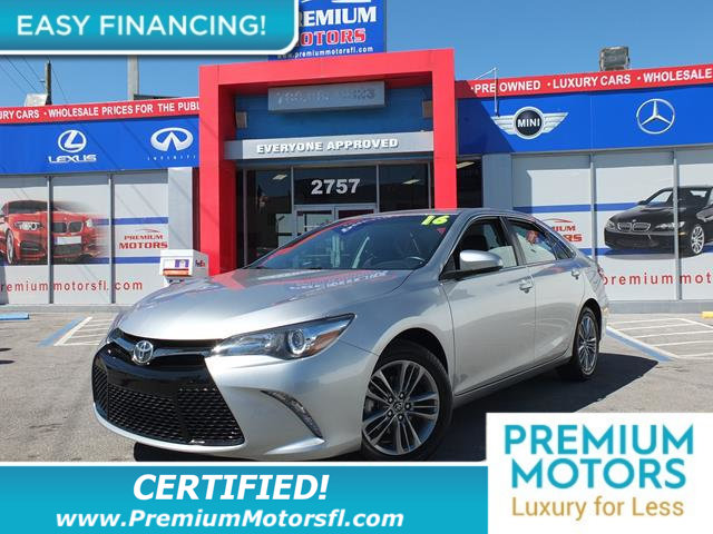 2016 TOYOTA CAMRY 4DR SEDAN I4 AUTOMATIC SE BUY AND DRIVE WORRY FREELOADED CERTIFIED FACTORY WA