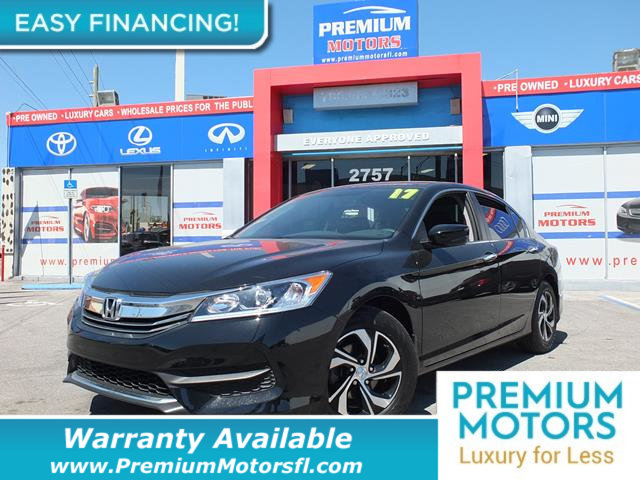 2017 HONDA ACCORD SEDAN LX CVT LOADED CERTIFIED FACTORY WARRANTY Fully serviced just sign and