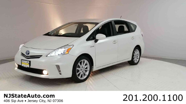 2012 TOYOTA PRIUS V 5DR WAGON FIVE CARFAX One-Owner Blizzard Pearl 2012 Toyota Prius v Five FWD C