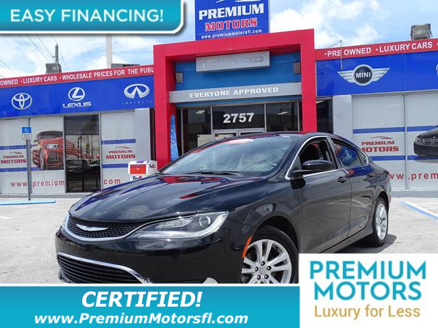 2016 CHRYSLER 200  LOADED CERTIFIED WE SAVE YOU THOUSANDS Fully serviced just sign and dr