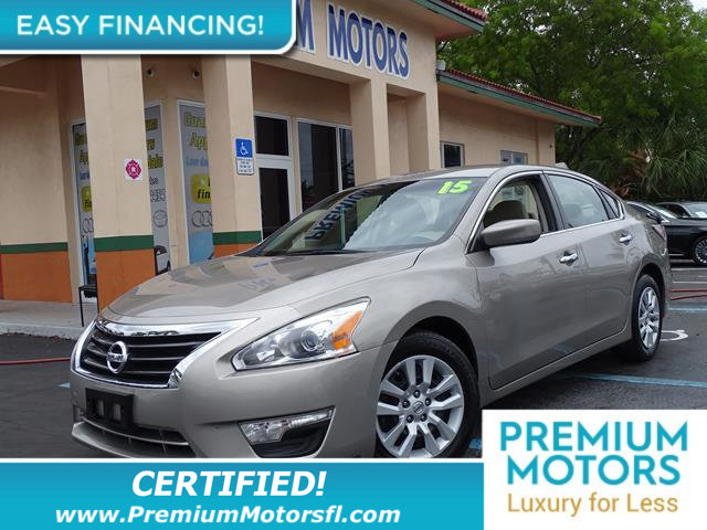 2015 NISSAN ALTIMA 4DR SEDAN I4 25 S LOADED CERTIFIED WE SAVE YOU THOUSANDS Fully service