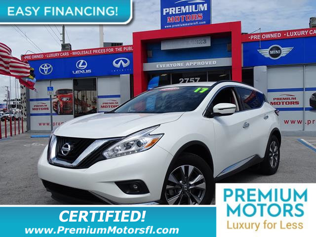 2017 NISSAN MURANO FWD SV LOADED CERTIFIEDFACTORY WARRANTY Fully serviced just sign and d