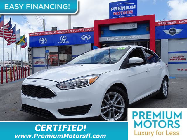 2016 FORD FOCUS 4DR SEDAN SE LOADED CERTIFIED FACTORY WARRANTY Fully serviced just sign and dr