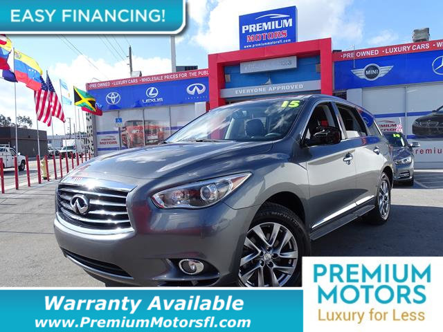 2015 INFINITI QX60 FWD 4DR LOADED CERTIFIED WE SAVE YOU THOUSANDS Fully serviced just sign and