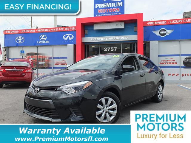 2016 TOYOTA COROLLA  LOADED CERTIFIED WARRANTY Dont Pay Retail Get low monthly payments on th
