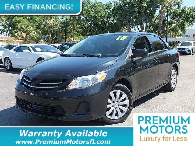 2013 TOYOTA COROLLA 4DR SEDAN AUTOMATIC LE LOADED CERTIFIED WE SAVE YOU THOUSANDS Fully service