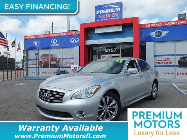 2012 INFINITI M37 4DR SEDAN RWD LOADED CERTIFIED WE SAVE YOU THOUSANDS Fully serviced just sig
