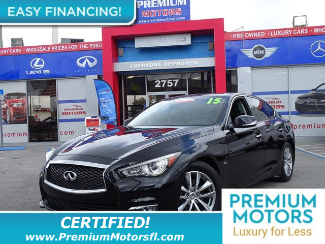 2015 INFINITI Q50 4DR SEDAN RWD LOADED CERTIFIED FACTORY WARRANTY Fully serviced just sign and
