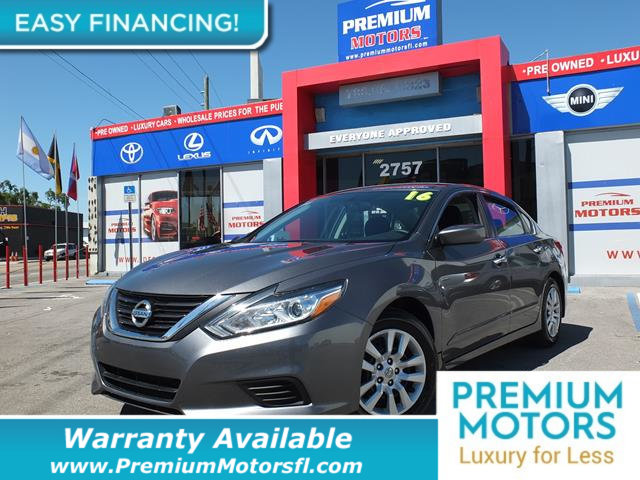 2016 NISSAN ALTIMA  BUY WITH CONFIDENCE CARFAX 1-Owner Altima and CARFAX Buyback Guarantee qualif