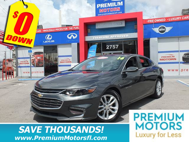 2016 CHEVROLET MALIBU 4DR SEDAN LT W1LT LOADED CERTIFIED MINT CONDITION 1000s Below Reta