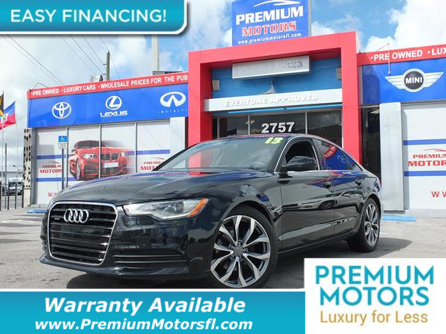 2013 AUDI A6 4DR SEDAN QUATTRO 20T PREMIUM P LOADED CERTIFIED WE SAVE YOU THOUSANDS Fully serv