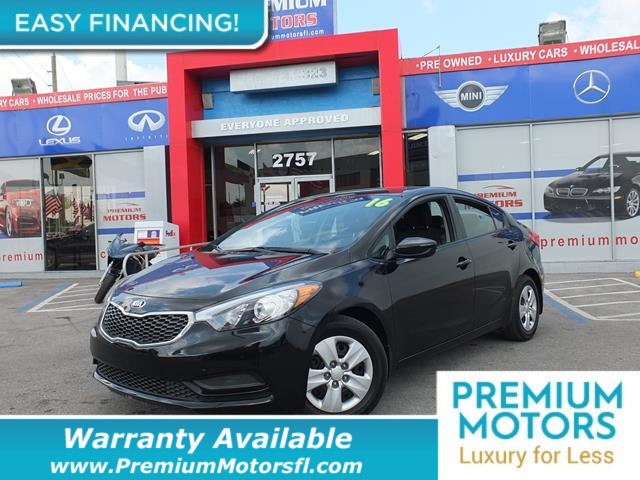 2016 KIA FORTE  LOADED CERTIFIED WE SAVE YOU THOUSANDS Fully serviced just sign and drive