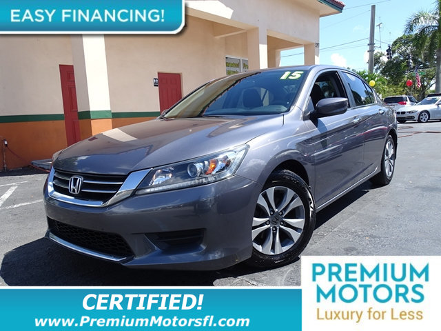2015 HONDA ACCORD SEDAN 4DR I4 CVT LX BUY AND DRIVE WORRY FREE Own this CARFAX 1-Owner and Buybac