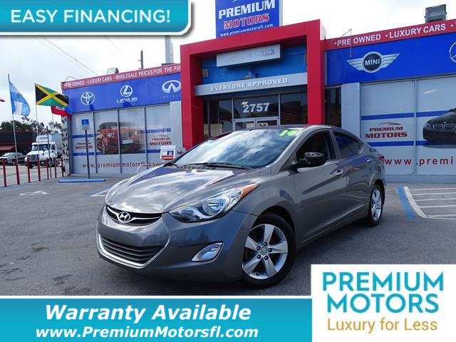 2013 HYUNDAI ELANTRA 4DR SEDAN AUTOMATIC GLS LOADED CERTIFIED WE SAVE YOU THOUSANDS Fully