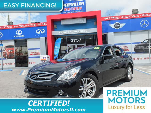 2015 INFINITI Q40 4DR SEDAN RWD LOADED CERTIFIED FACTORY WARRANTY Fully serviced just sign and