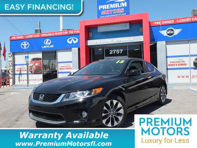 2015 HONDA ACCORD COUPE 2DR I4 CVT EX-L LOADED CERTIFIED WE SAVE YOU THOUSANDS Fully servi