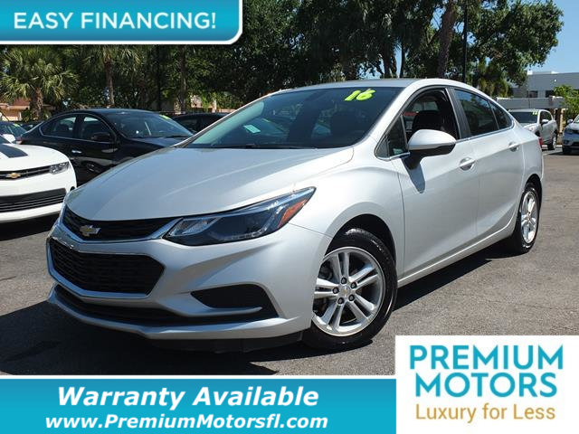 2016 CHEVROLET CRUZE 4DR SEDAN AUTOMATIC LT LOADED CERTIFIED FACTORY WARRANTY Fully serviced j