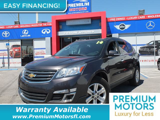2014 CHEVROLET TRAVERSE FWD 4DR LT W2LT LOADED CERTIFIED WE SAVE YOU THOUSANDS Fully serviced