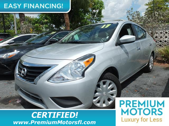 2017 NISSAN VERSA SEDAN SV CVT NISSAN FOR LESS FACTORY WARRANTY At Prem