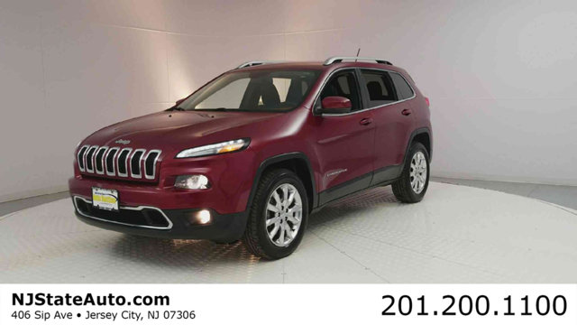 2014 JEEP CHEROKEE 4WD 4DR LIMITED CARFAX One-Owner Clean CARFAX Deep Cherry Red Crystal 2014 Je