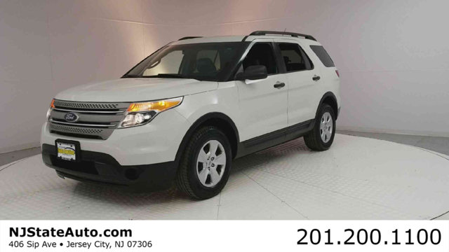 2012 FORD EXPLORER 4WD 4DR Clean CARFAX White Suede 2012 Ford Explorer AWD 6-Speed Automatic with