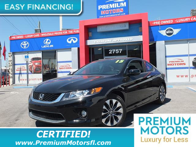 2015 HONDA ACCORD COUPE 2DR I4 CVT EX-L HONDA FOR LESS SAVE THOUSANDS At Premium Motors we have