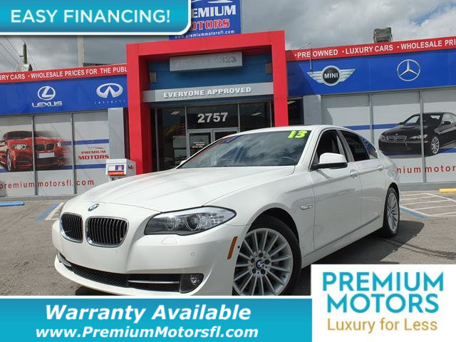 2013 BMW 5 SERIES 535I LOADED CERTIFIED WE SAVE YOU THOUSANDS Fully serviced just sign and dri
