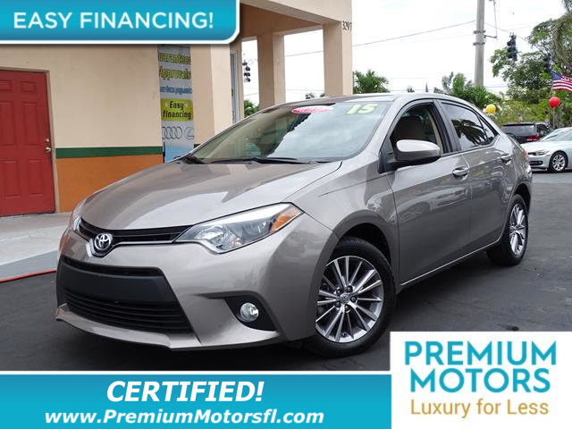 2015 TOYOTA COROLLA 4DR SEDAN CVT LE LOADED CERTIFIED WE SAVE YOU THOUSANDS Fully serviced jus