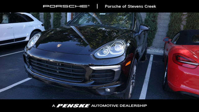 2017 PORSCHE CAYENNE PLATINUM EDITION AWD New Price CARFAX One-Owner Clean CARFAX Certified Bl
