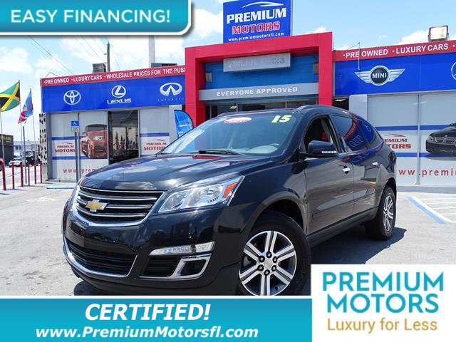 2015 CHEVROLET TRAVERSE FWD 4DR LT W1LT LOADED CERTIFIED WE SAVE YOU THOUSANDS Fully serv