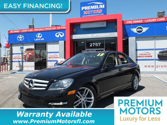 2013 MERCEDES C-CLASS  LOADED CERTIFIED WE SAVE YOU THOUSANDS Fully serviced just sign and dri