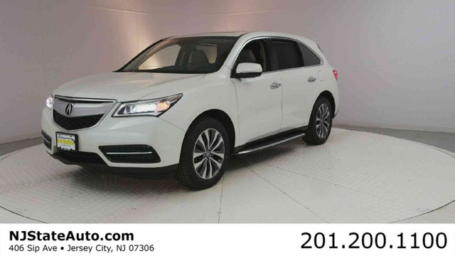 2015 ACURA MDX AWD 4DR TECHENTERTAINMENT PKG CARFAX One-Owner Clean CARFAX Diamond White Pearl 2