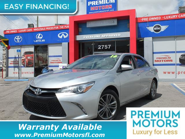 2016 TOYOTA CAMRY 4DR SEDAN I4 AUTOMATIC SE LOADED CERTIFIED MINT CONDITION and 1000s Below Ret