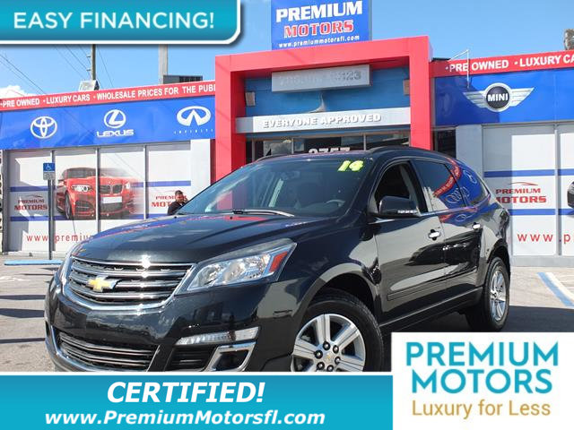 2014 CHEVROLET TRAVERSE FWD 4DR LT W2LT LOADED CERTIFIED WE SAVE YOU THOUSANDS Fully serv