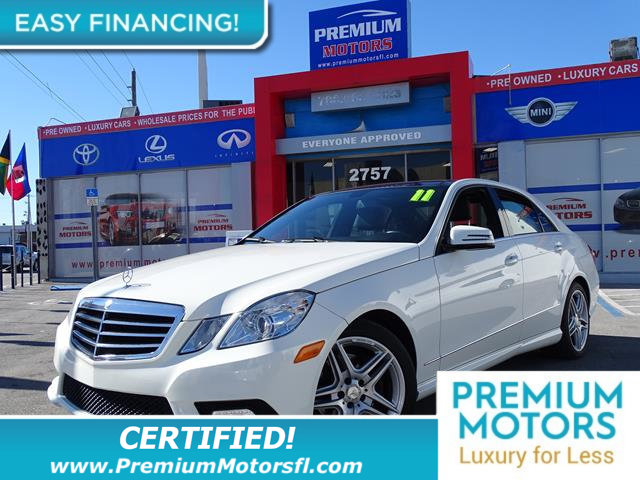 2011 MERCEDES E-CLASS  LOADED CERTIFIED WE SAVE YOU THOUSANDS Fully serviced just sign and dri