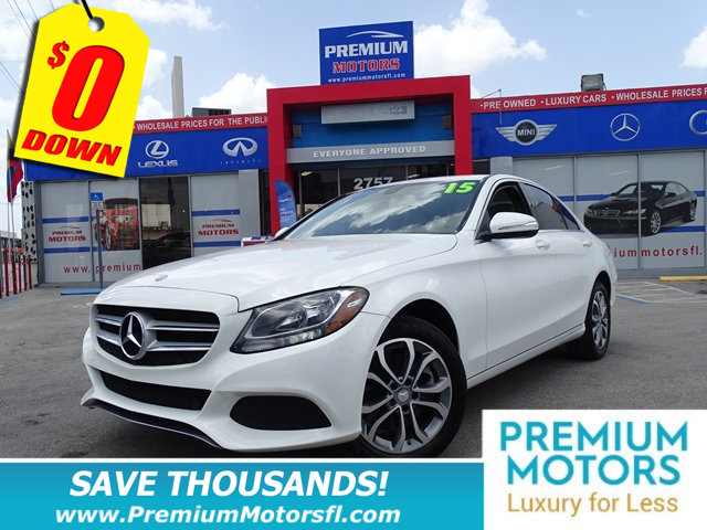 2015 MERCEDES C-CLASS 4DR SEDAN C 300 4MATIC MERCEDES FOR LESS FACTORY WARRANTY At Premium