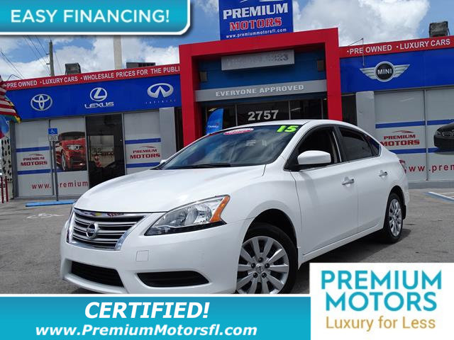 2015 NISSAN SENTRA  LOADED CERTIFIEDFACTORY WARRANTY Fully serviced just sign and drive