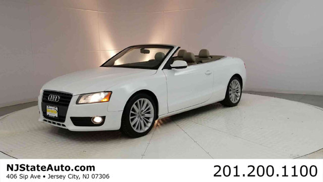 2012 AUDI A5 CABRIOLET 2DR CABRIOLET AUTO QUATTRO 20T  CARFAX One-Owner Ibis White 2012 Audi A5