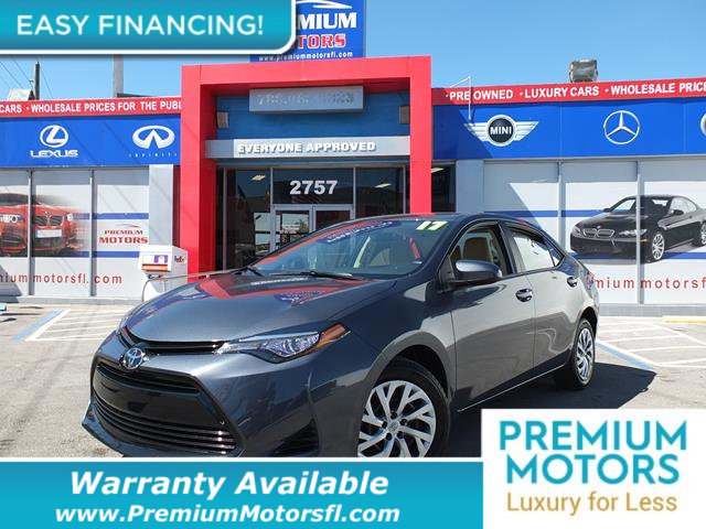 2017 TOYOTA COROLLA  LOADED CERTIFIED WE SAVE YOU THOUSANDS Dont Pay Retail Get low monthly p