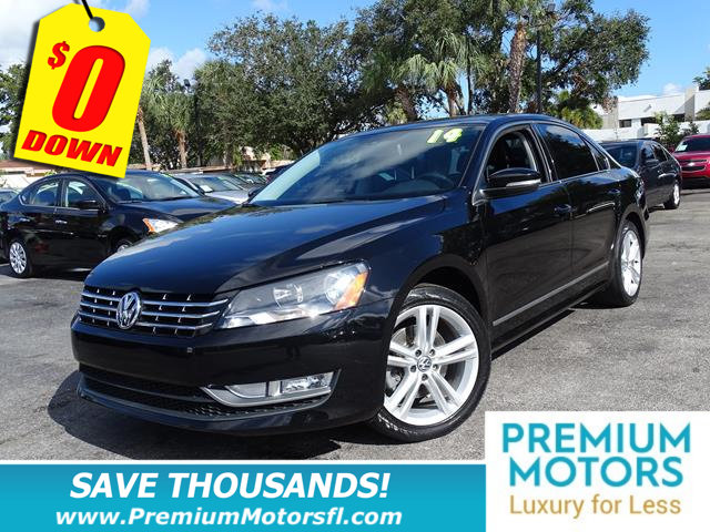 2014 VOLKSWAGEN PASSAT 4DR SEDAN 18T AUTOMATIC SEL PRE LOADED CERTIFIEDFACTORY WARRANTY F