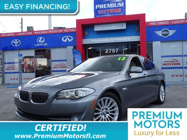 2012 BMW 5 SERIES 535I BMW FOR LESS SAVE THOUSANDS At Premium Motors we have relationships with