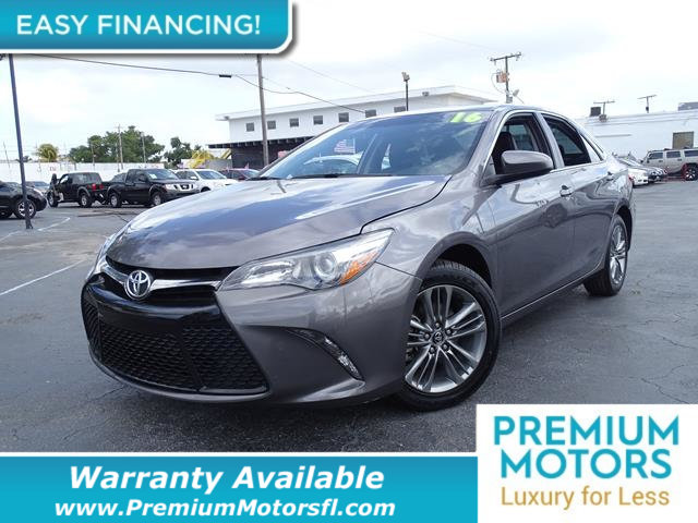 2016 TOYOTA CAMRY 4DR SEDAN I4 AUTOMATIC SE LOADED CERTIFIED FACTORY WARRANTY Fully serviced j