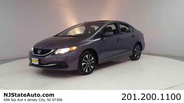 2014 HONDA CIVIC SEDAN 4DR CVT EX CARFAX One-Owner Clean CARFAX Modern Steel 2014 Honda Civic EX